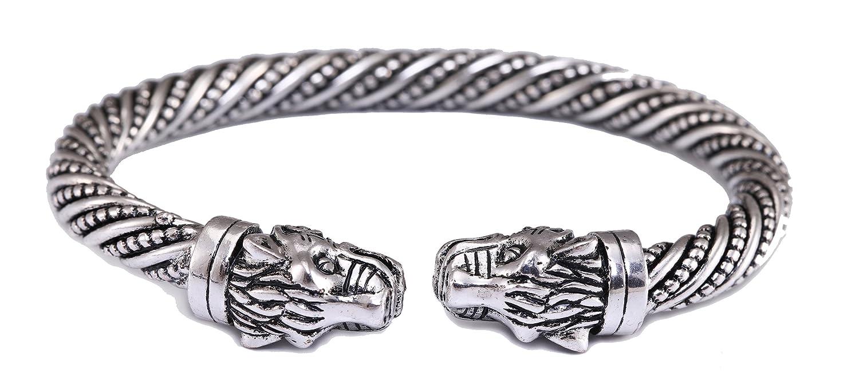 fishhook Attaches de Type Viking Bold Cheetah Vis /à t/ête Bracelet de Manchette Bracelet