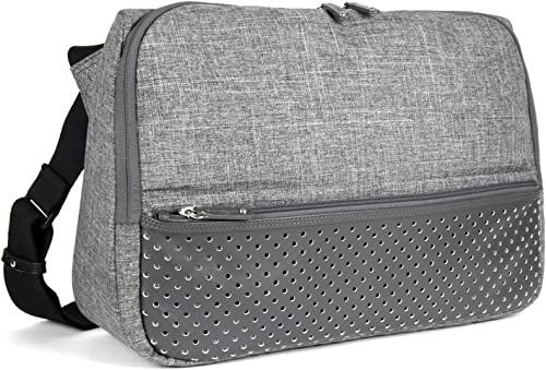 FINEDAYS Triangle Commuter Bag by BZLStudio Up to 15 inch Laptop Messenger Bag Light Grey