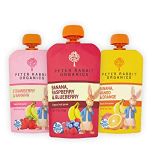 Pumpkin Tree Peter Rabbit Organics Fruits Variety Pack 4 oz. Squeezable Pouches (Pack of 18)