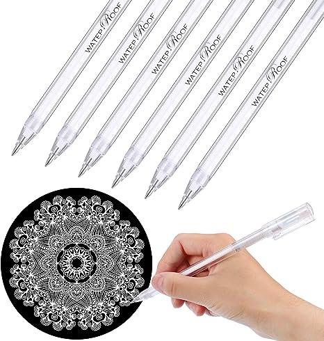 WRITE White Gel Ink Pen Artist Archival Fine Tip Sketching Drawing Painting Pens