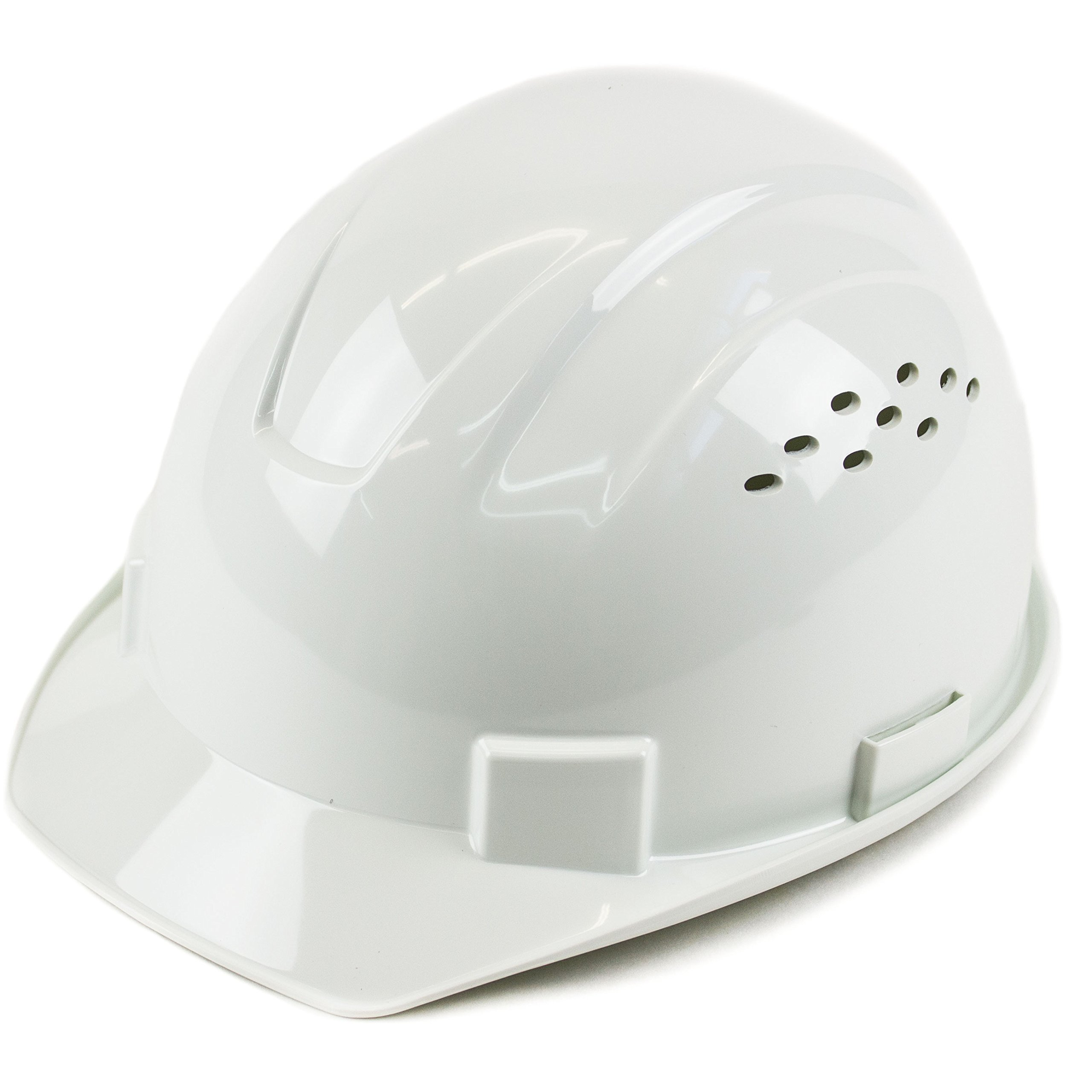 RK Safety RK-HP14-WH Hard Hat Cap Style with 4 Point Ratchet Suspension, 1EA (White)