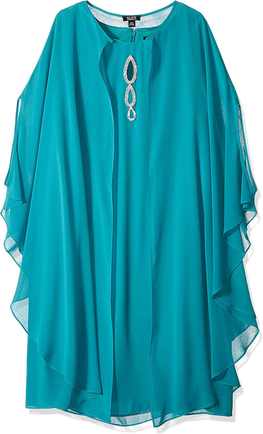 Fashions Womens Plus Size Cape Dress S.L