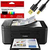 Canon Wireless Pixma TR4520 Inkjet All-in-one Printer with Scanner, Copier, Mobile Printing and Google Cloud + Bonus Set…