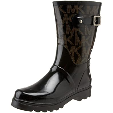 6294369ede90 Michael Michael Kors Women s MK Logo Mid Rainboot Boot