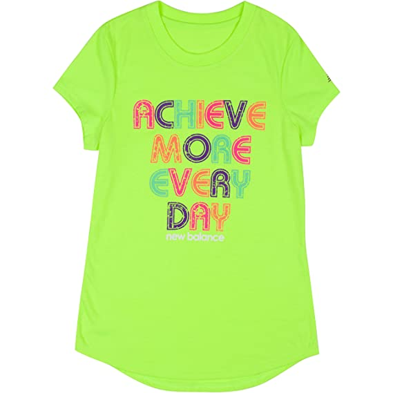 c4ff0303bf0 new balance Girls  Short Sleeve Graphic Tees  Amazon.in  Clothing ...