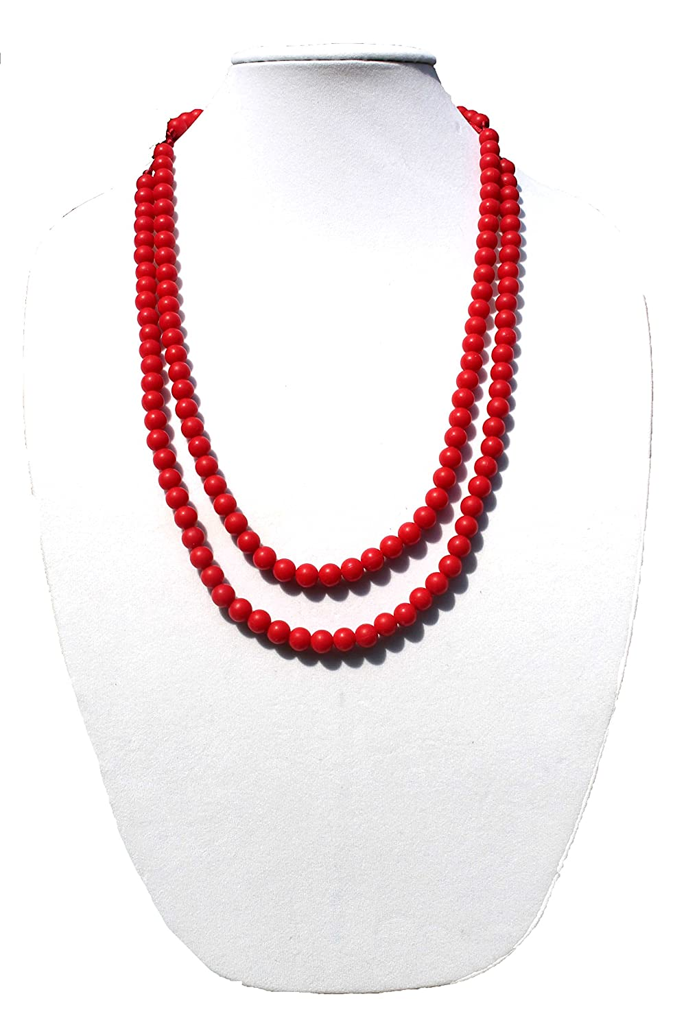 White Peacemaker Jewelry Beaded Double Strand Teething Necklace