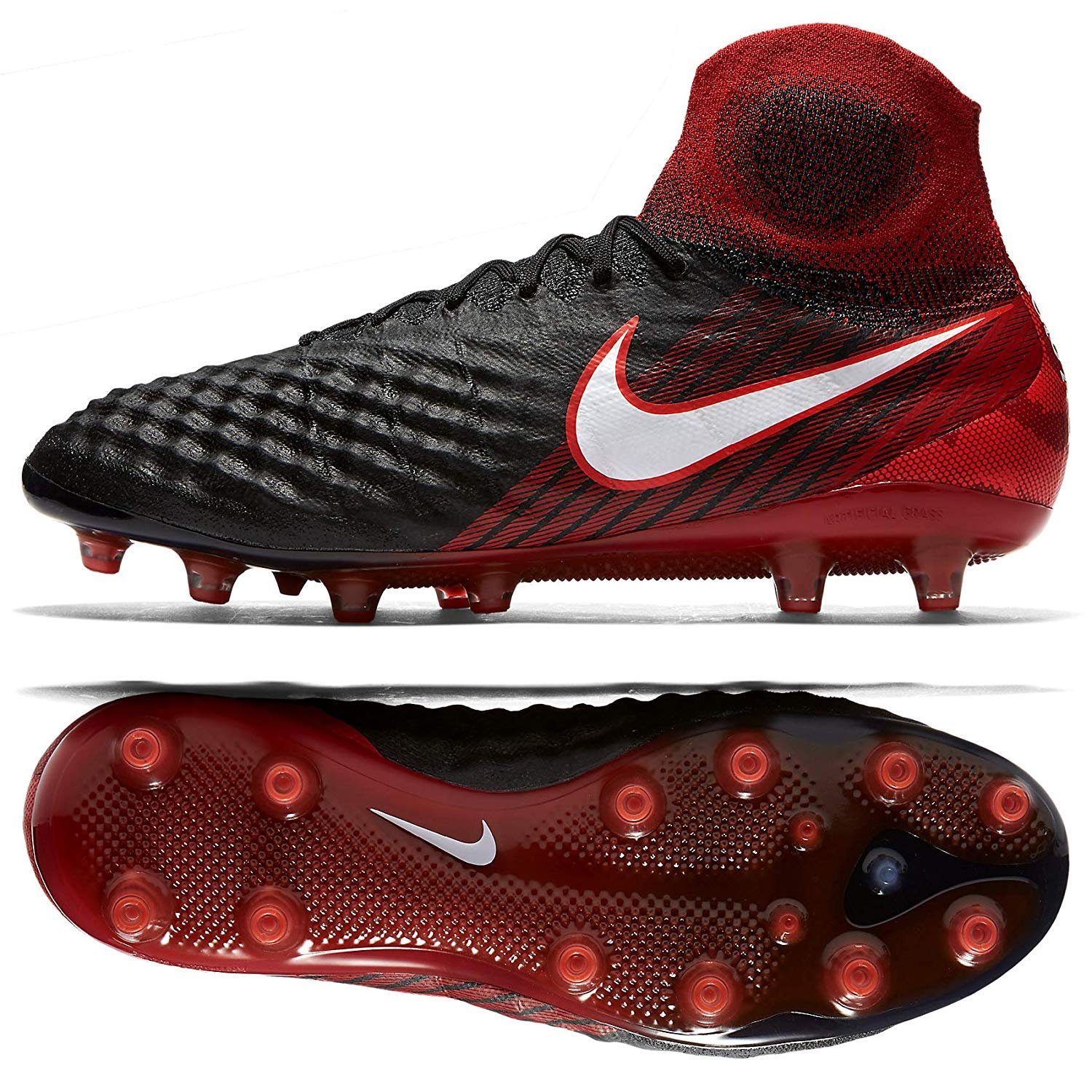 1d2aee9fd31c Nike Magista Obra II AG-PRO Men s Soccer Cleats Black Red 844594-061 Sz 8.5
