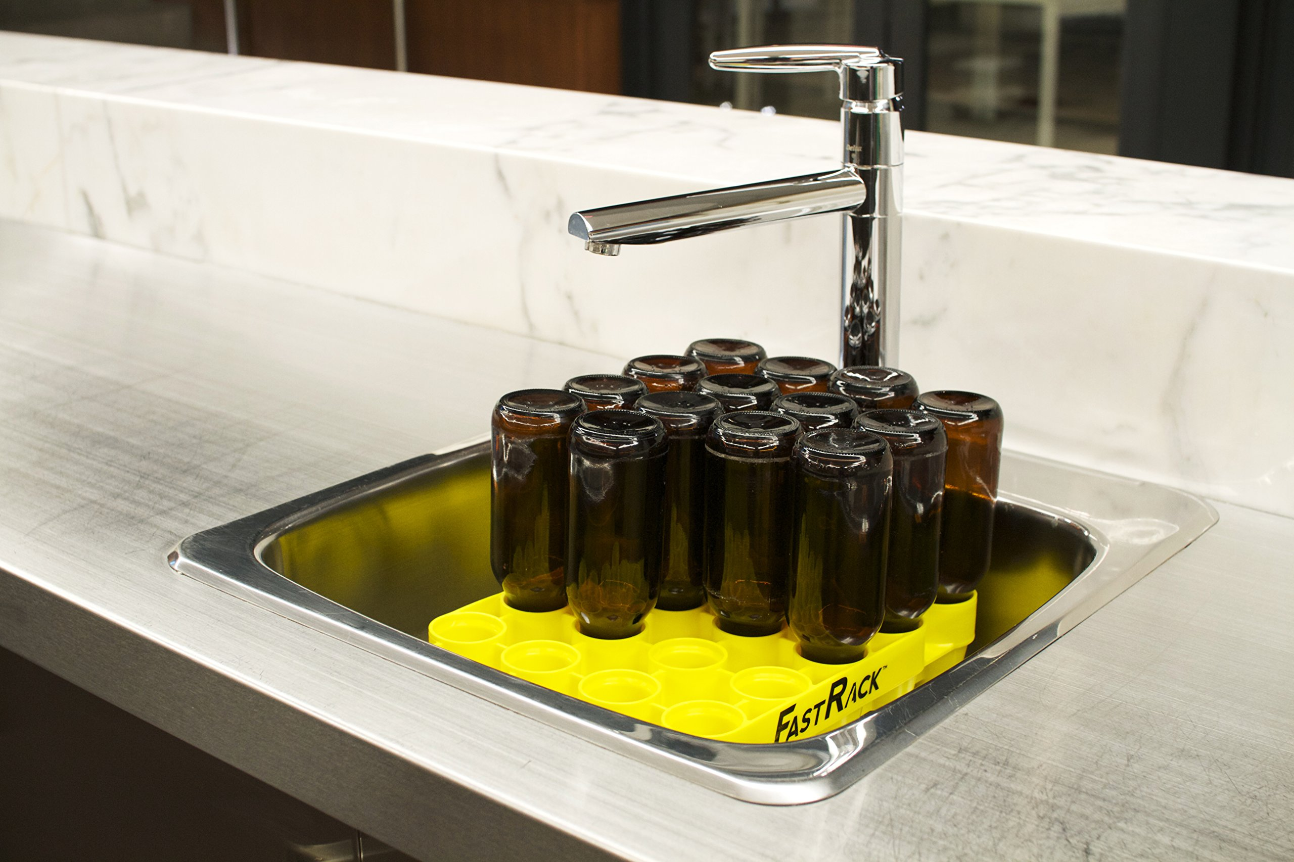 FastRack Bottle Drying Rack & Tray Kit - Bottle Drying Tree alternative; Dry or Store your Beer, Wine or Bomber/Belgian Bottles; Add to your Home Brewing Supplies by Fastrack (Image #10)