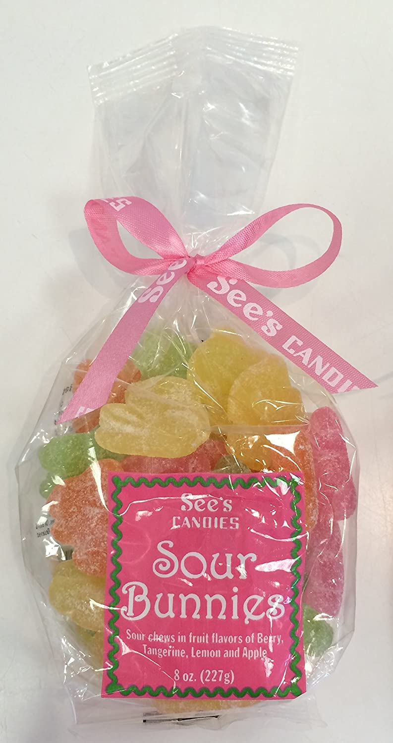 See\'s Candies 8 oz. Sour Bunnies: Amazon.com: Grocery & Gourmet Food