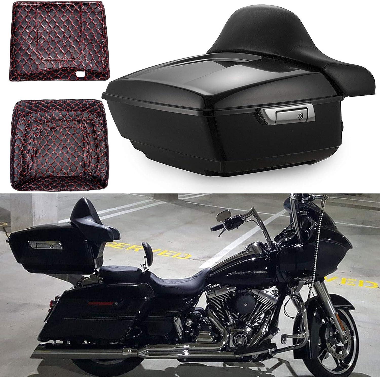 Green-L Black Solo Rack /& Docking Hardware Kit Fit For Harley Touring Road King Street Glide 2014-2020