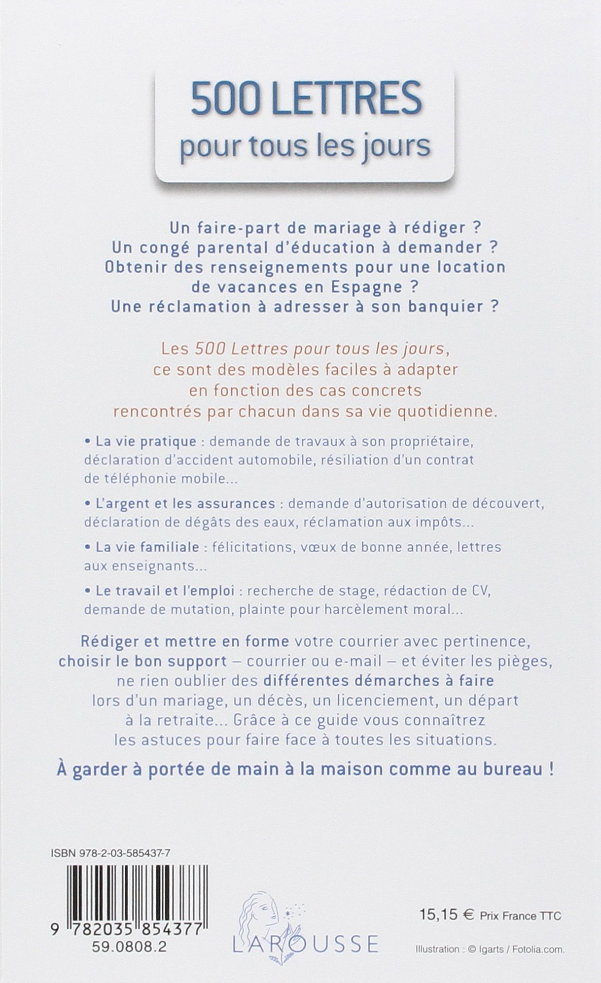 500 Lettres Pour Tous Les Jours French Edition Larousse