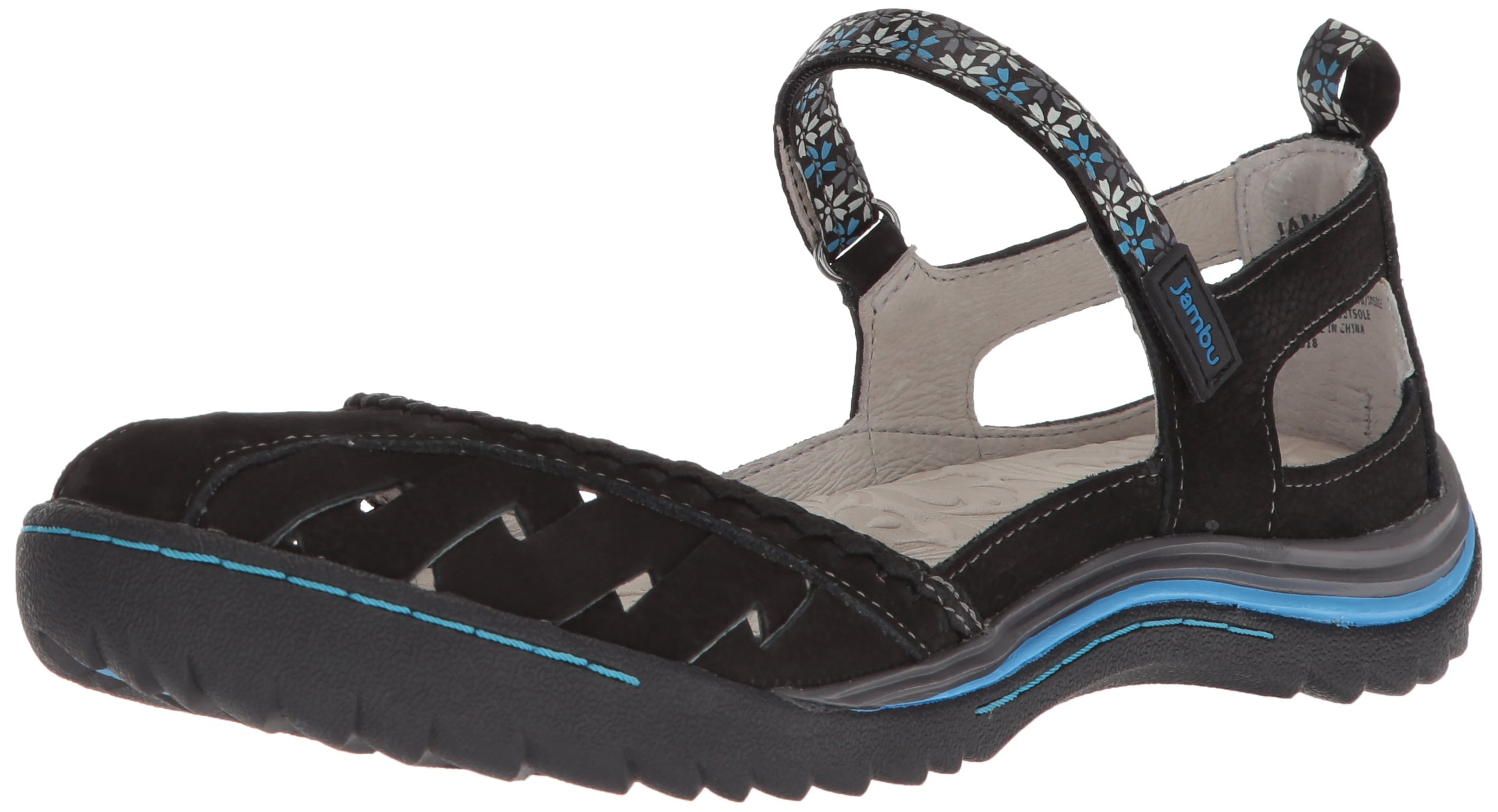Jambu Women's Apple Blossom Mary Jane Flat, Black, 10 Medium US