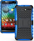 NAKEDCELLPHONE BLUE GRENADE RUGGED SKIN HARD CASE COVER STAND FOR VERIZON MOTOROLA DROID RAZR-M XT907 / XT901 / RAZR i XT890