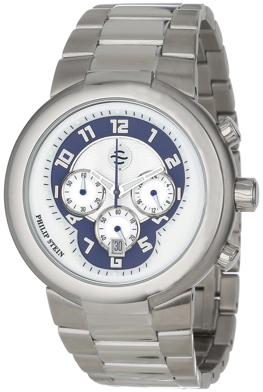 Philip Stein – 32-an-ss – Armbanduhr – Quarz Analog – Zifferblatt Blau Armband Stahl Silber