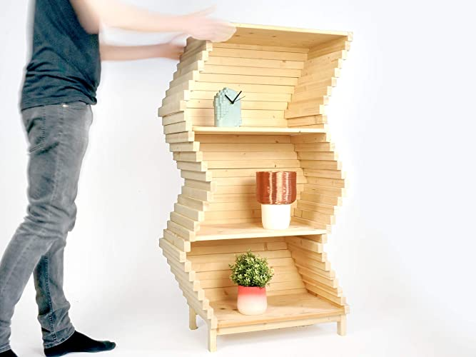 Libreria wave scaffalature mobili libere da appoggio per