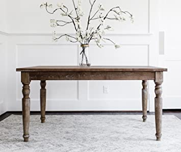 Magnificent Edloe Finch Rustic Modern Dining Table French Country Farmhouse Rectangular 59 Inches Solid Elm Wood Home Interior And Landscaping Eliaenasavecom