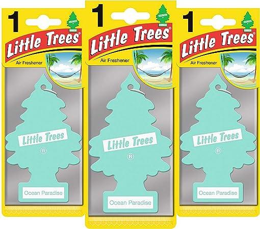 Little Trees Ltz067 Lufterfrischer Ozeanparadies Triple Pack Set Of 3 Auto