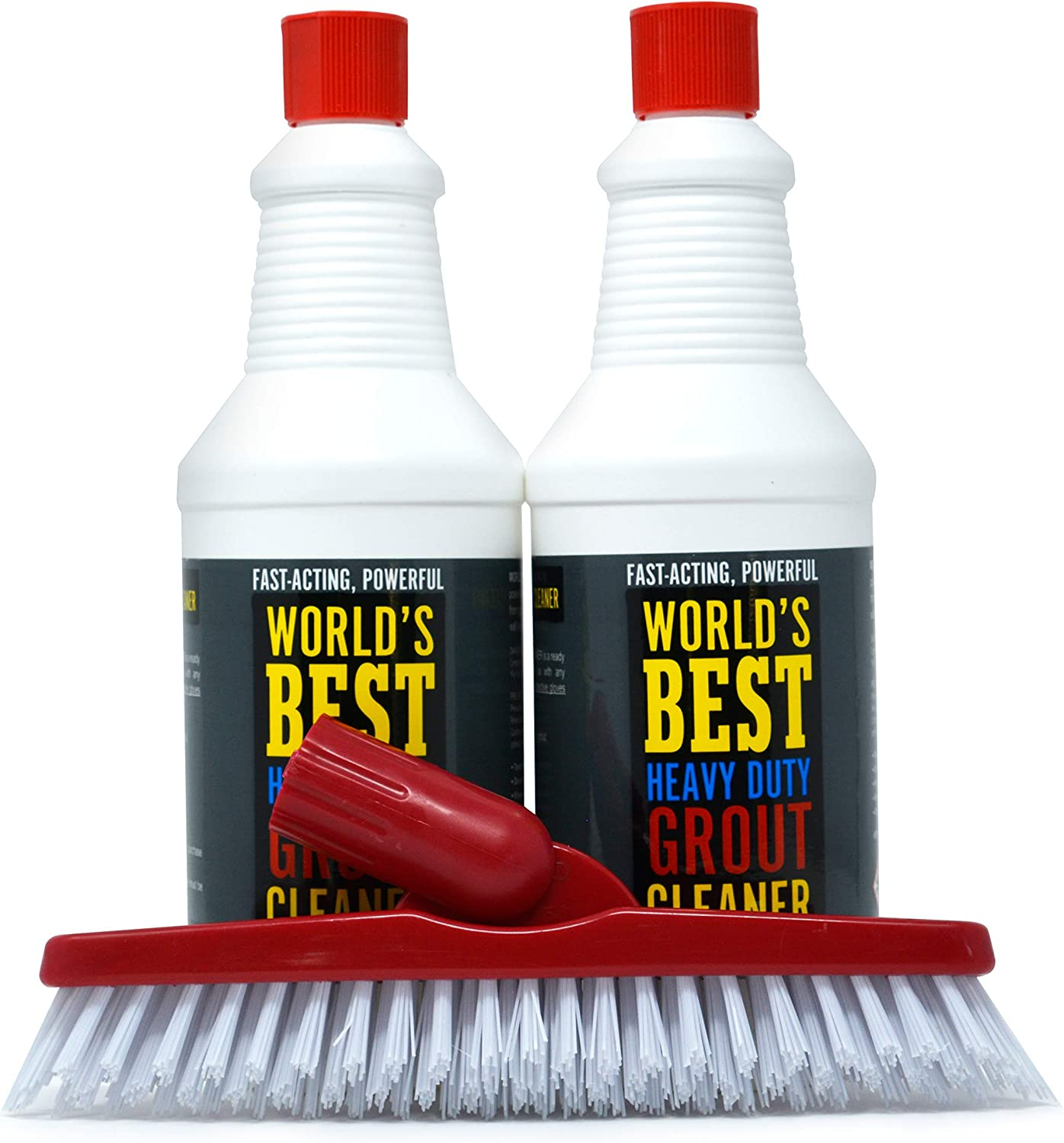World's Best Heavy Duty Grout Cleaner is a Powerful Tile Cleaner and Grout Cleaner That Removes Years of Dirty Build Up. Great Bathroom Tile Cleaner and Shower Tile Cleaner. Free Grout Brush Included