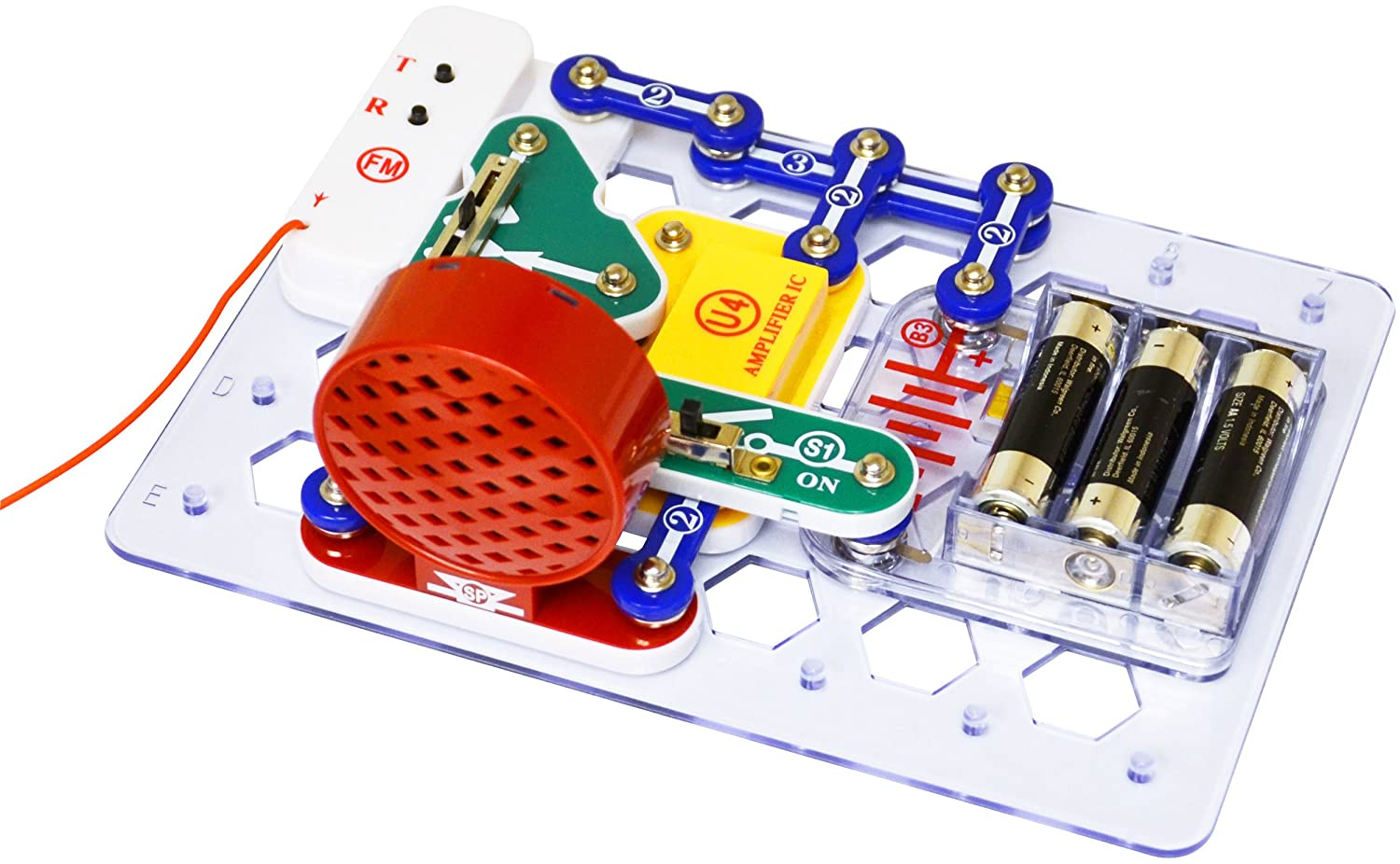 Snap Circuits Fm Radio Kit Toys Games Elenco Flying Saucer Easy To Build Provides Hours Of Fun