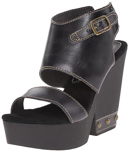 Sbicca Women's Madiera Wedge Sandal, Black, ...