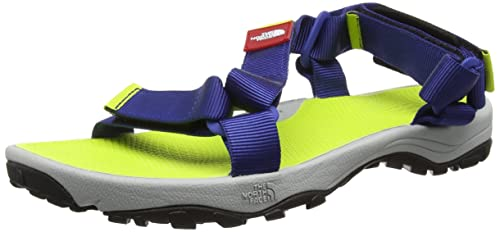 The North Face Men's Litewave Ankle Strap Sandals, Multicolor (Limoges  Blue/Lantern Green_GRE