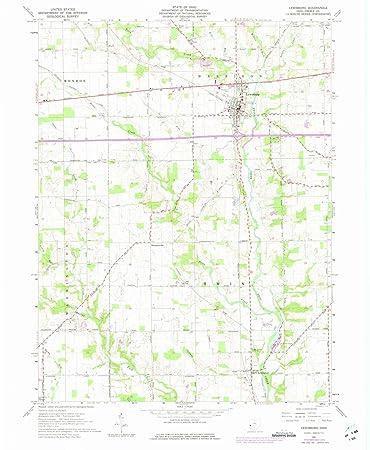 Lewisburg Ohio Map.Amazon Com Ohio Maps 1961 Lewisburg Oh Usgs Historical