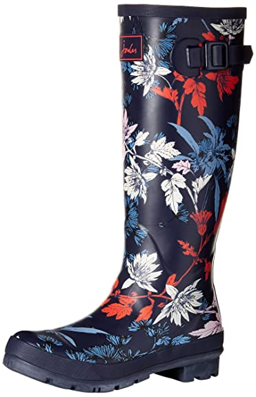 Joules Wellyprint, Bottes de Pluie Femme, Blau (French Navy Fay Floral),