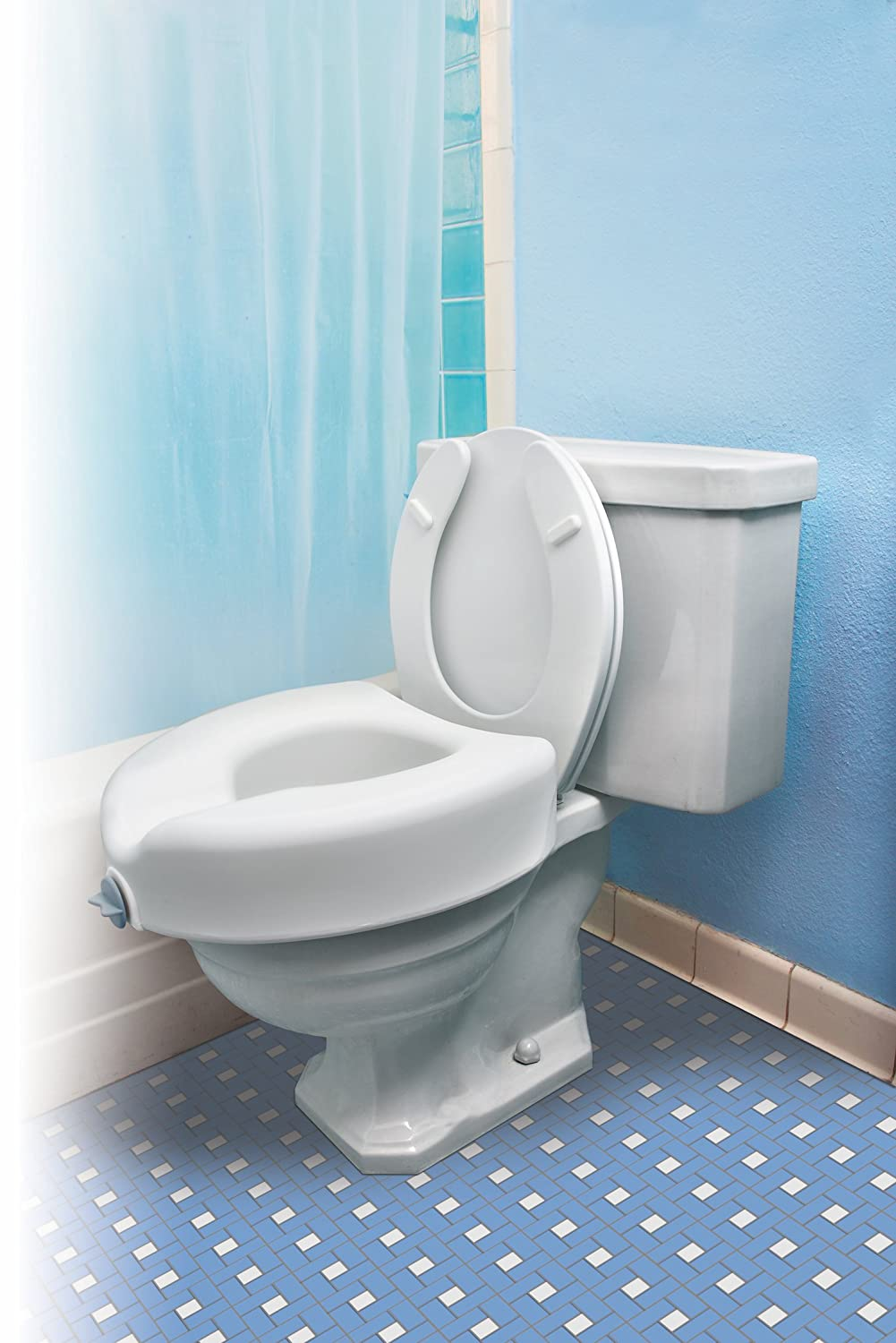 Amazon.com: Essential Medical Supply Elevated Toilet Seat with ...