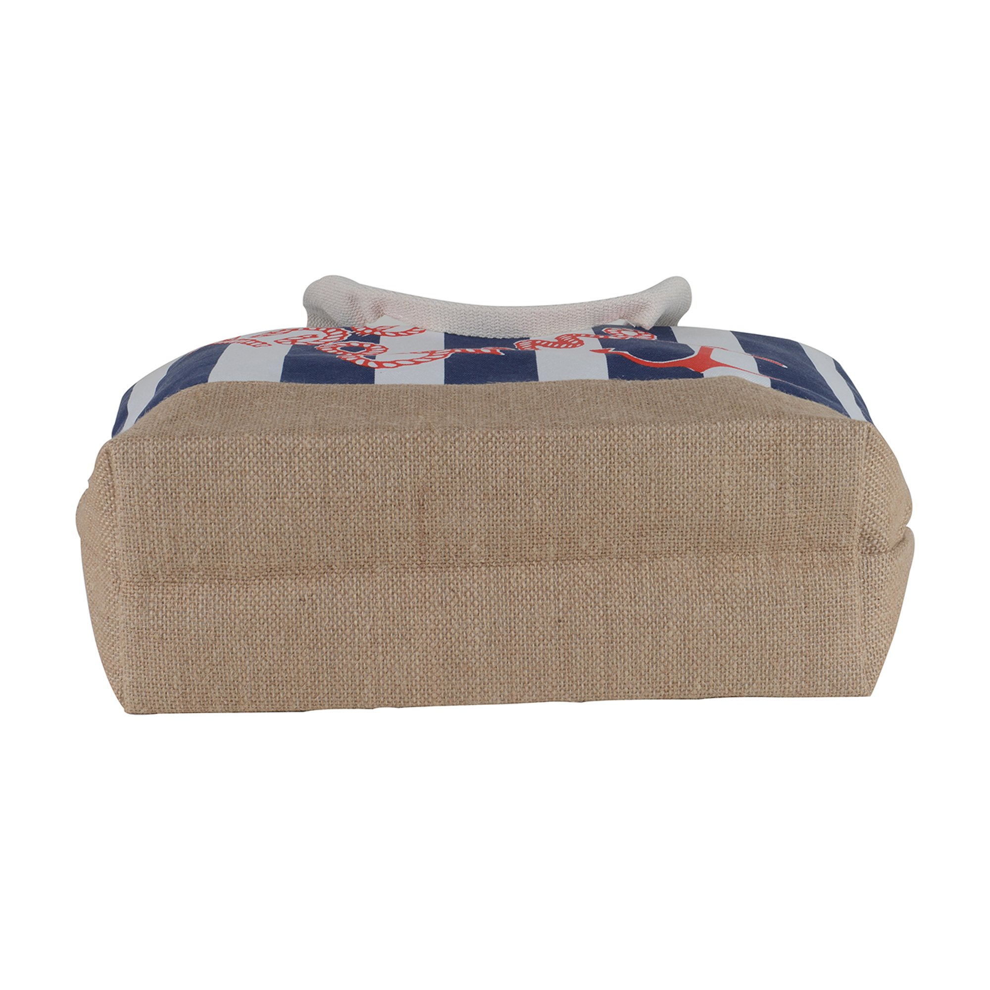 Canvas Burlap Beach & Me Printed Cotton Heavy Shoulder Straps Premium Women Tote Bag by BB (Navy Blue) by BB (Image #5)