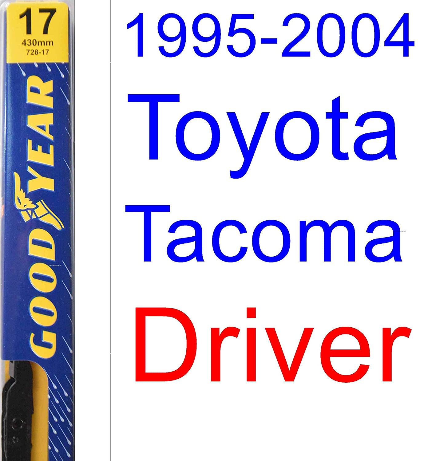Amazon.com: 1995-2004 Toyota Tacoma Replacement Wiper Blade Set/Kit (Set of 2 Blades) (Goodyear Wiper Blades-Premium) (1996,1997,1998,1999,2000,2001,2002 ...