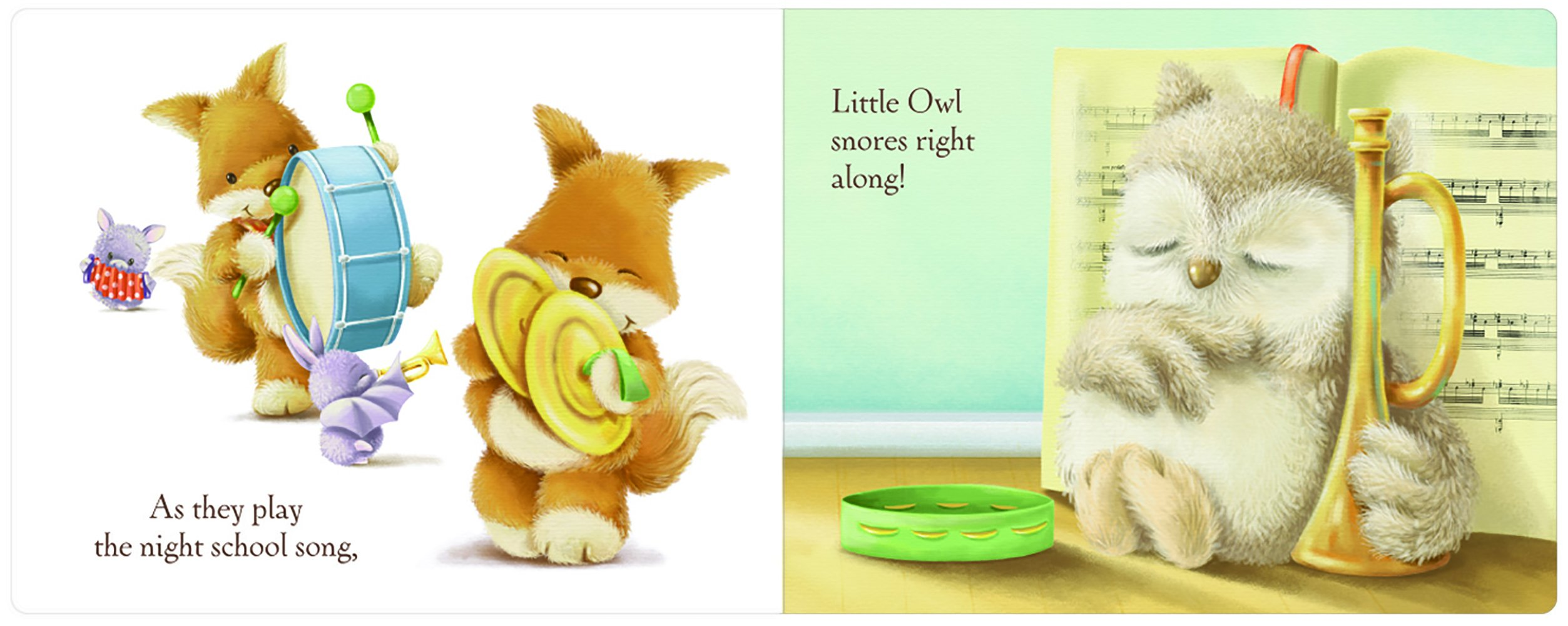 Jellycat Wake Up Little Owl Board Book and Little Owl Toy by Jellycat (Image #3)