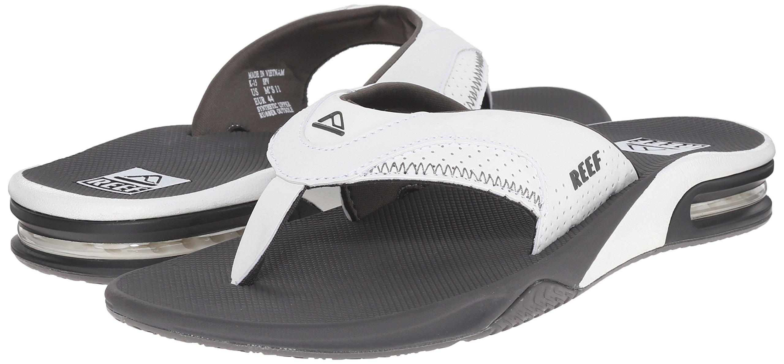 Reef Fanning Mens Sandals  Bottle Opener Flip Flops For Men,GREY/WHITE,7 M US by Reef (Image #6)