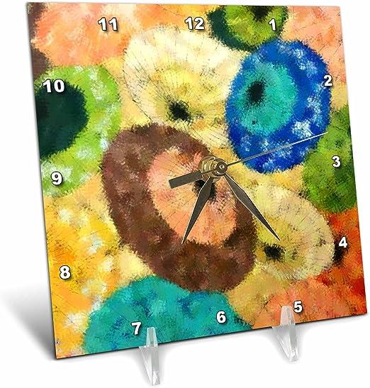 Asian Umbrellas 3dRose dc/_16368/_1 Desk Clock 6 by 6-Inch