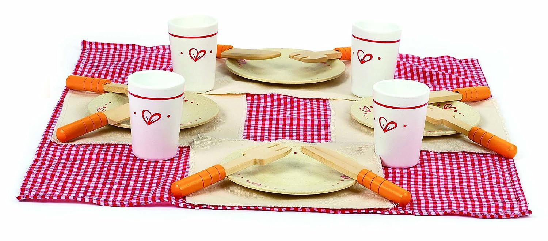 Kochgeschirr Kinderküche Holz - Hape Mittagessen-Set