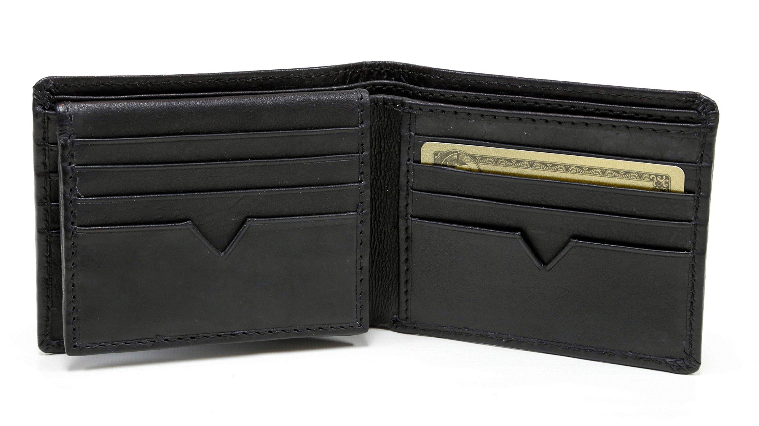 Ashlin Genuine Leather 16 Credit Card Slots Wallet, Black by ASHLIN