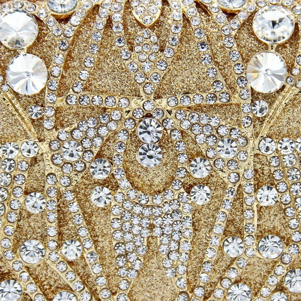 Pochette e Clutch da Donna Borsa da Sera Strass da Donna Alta qualità da Sera Frizione Borsa da Sposa da Sposa Borsa da Viaggio Banchetto Borsa cosmetica (Color : Silver) Silver