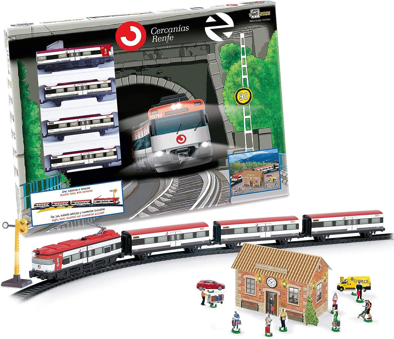 PEQUETREN Servicios E Industrias del Juguete 66-675 - Tren De Cercanias Renfe Metalico con Luz