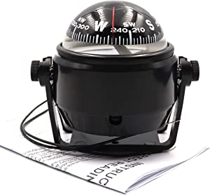 DETUCK(TM Boat Compass Dashboard Marine Compass for Boat Compass Dash Mount Night Lighting