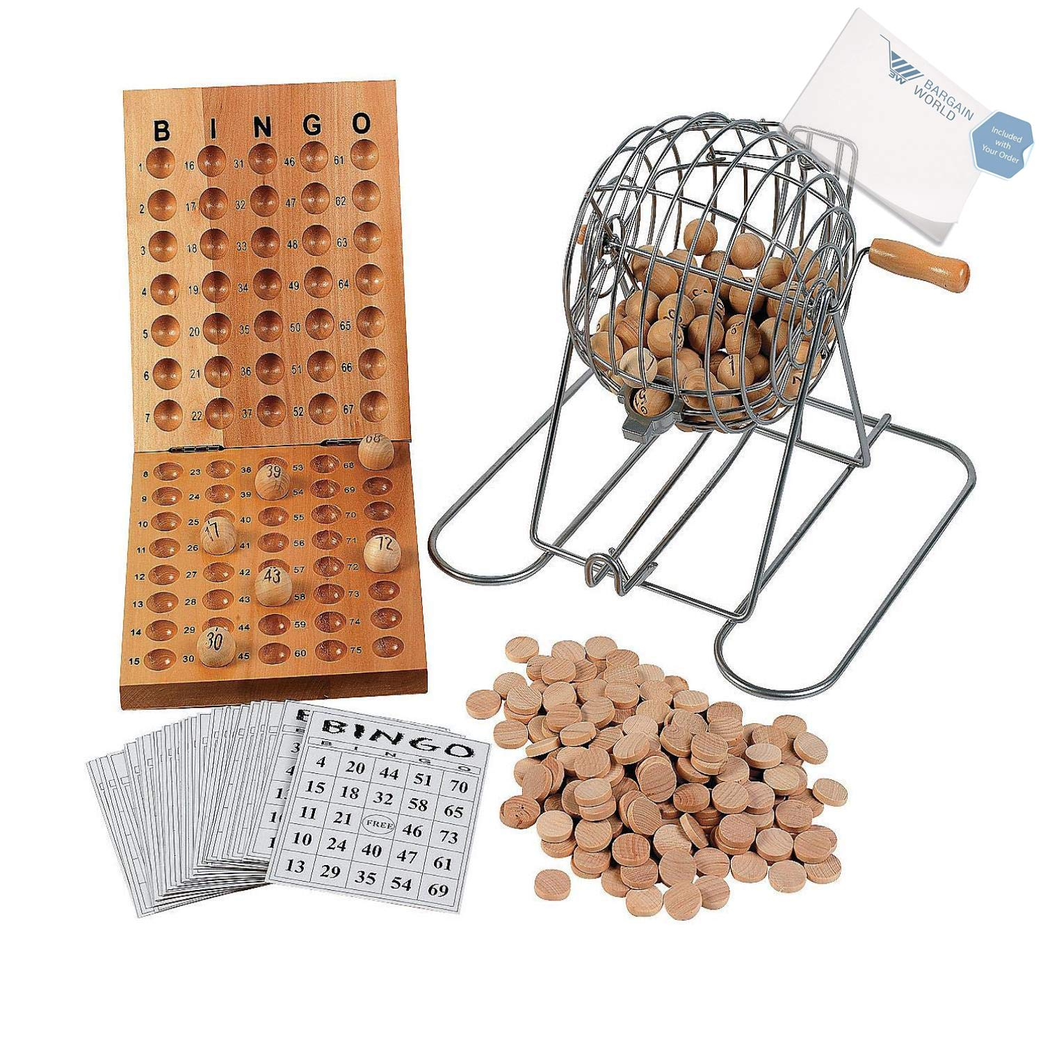Bargain World Deluxe Bingo Set (With Sticky Notes)