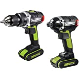 Rockwell RK1807K2 20V Brushless Drill/Impact Driver Combo Kit, 2-Piece