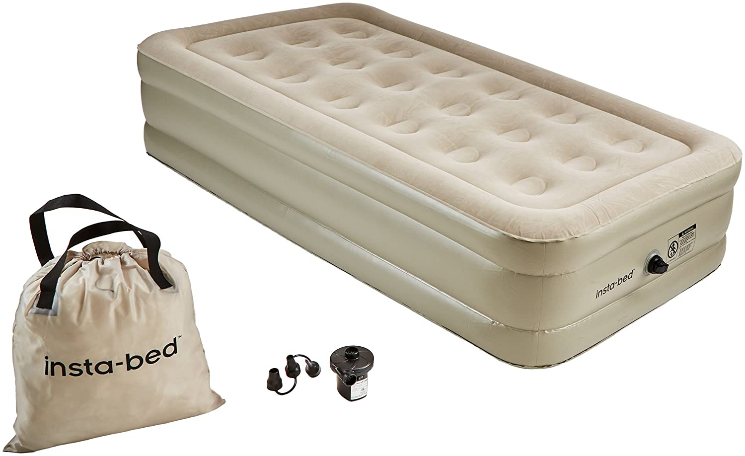 Insta-Bed 16' Air Mattress with External AC Pump, Grey