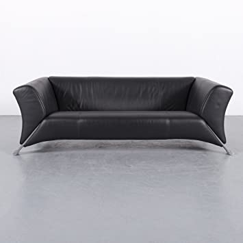 Amazon.de: Rolf Benz 322 Leder Sofa Schwarz Dreisitzer Couch ...