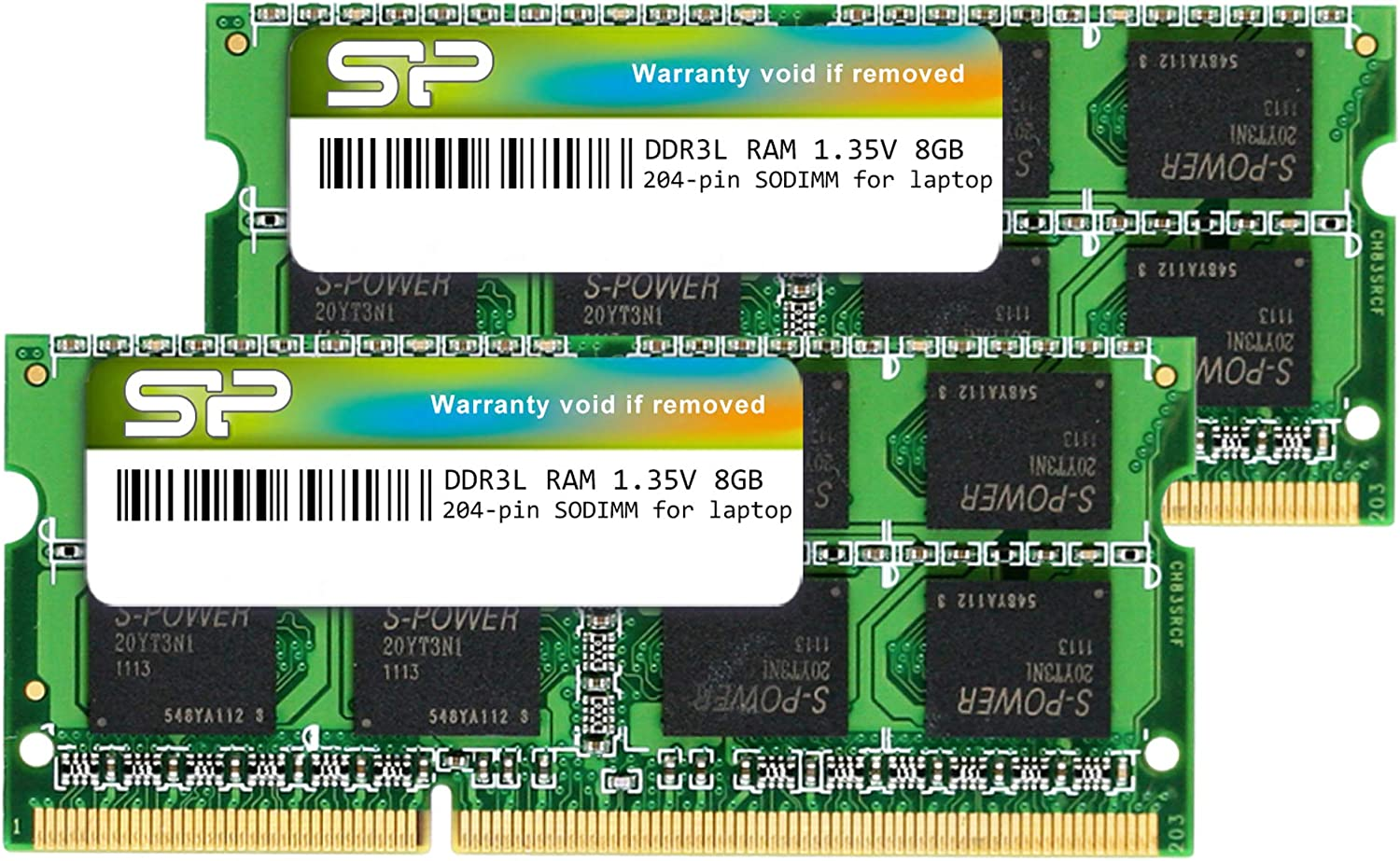 Silicon Power DDR3L 16GB (2 x 8GB) RAM 1600MHz (PC3 12800) SODIMM Memory Compatible with Early/Mid/Late 2011, Mid/Late 2012, Early/Late 2013, Late 2014, Mid 2015 MacBook Pro, iMac, Mac Mini