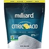 Milliard Citric Acid 10 Pound (4.5kg) - 100% Pure Food Grade Non-GMO Project Verified (10 Pound)