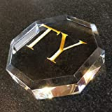 Personalized Paperweight engraved in crystal. Customize your message