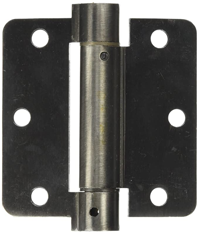 Color: Silver 2 inch 51mm Length 4 Holes Window Door Metal self-Locking Spring Hinge