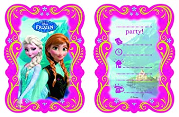 Lot De 12 Cartes D Invitation Kit De Frozen La Reine Des Neiges