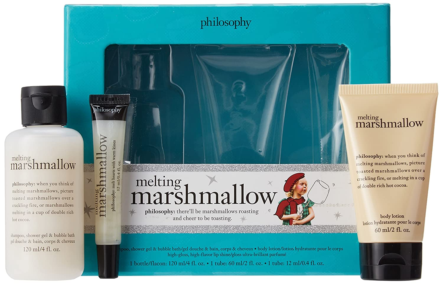 Amazon.com : Philosophy Melting Marshmallow Trio Gift Set - Shower Gel, Body Lotion and Gloss : Beauty