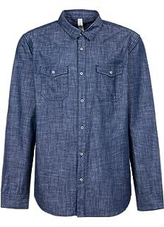 5b7353141ff VANCOOG Men s Long Sleeve Denim Work Shirts Pocket Casual Button ...