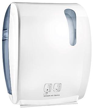 Dispensador Dispensador electrónico para rollo papel toallas a fotocélula Mar Plast: Amazon.es: Hogar